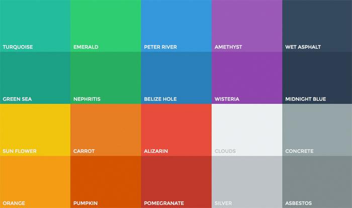 Tendances UX pour 2014: cela non: Guide couleurs Flat UI